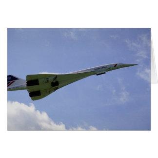 British Airways Concorde, taking off at Heathrow A Card