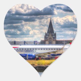 British Airways Pegatina En Forma De Corazón
