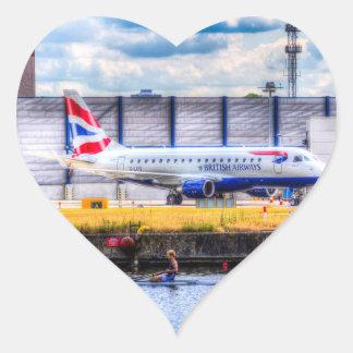 British Airways y solo Scull Pegatina En Forma De Corazón