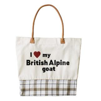 British Alpine goat Zazzle HEART Tote Bag