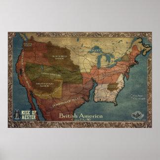 British America Map Print