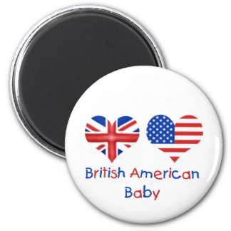 British American Baby 2 Inch Round Magnet