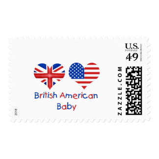 British American Baby Postage Stamp