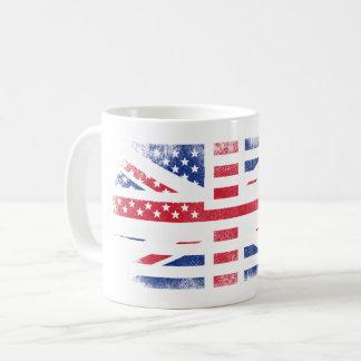 British American Flag   Britain UK and USA Design Coffee Mug