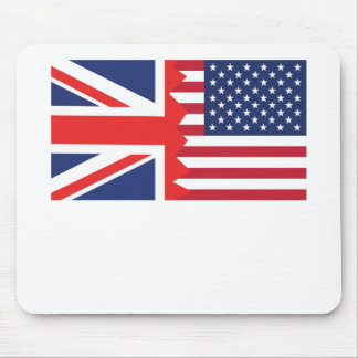 British American Flag Mouse Pad