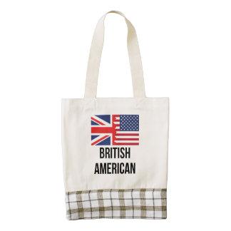 British American Flag Zazzle HEART Tote Bag
