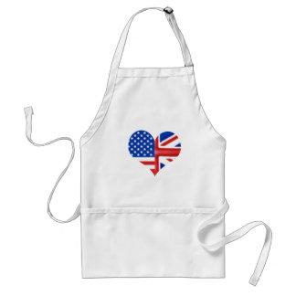 British American Heart Apron