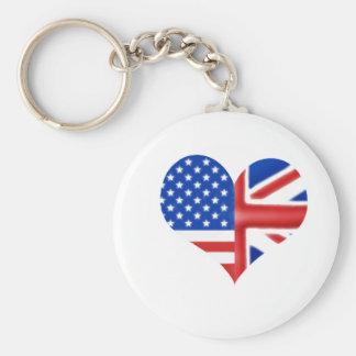 British American Heart Keychain