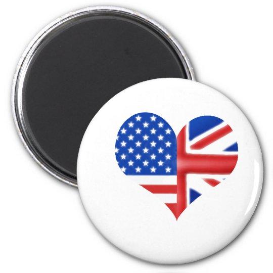 British American Heart Magnet