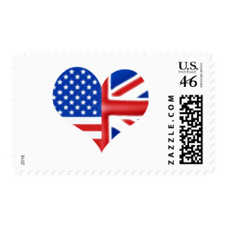 British American Heart Stamp