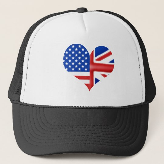 British American Heart Trucker Hat