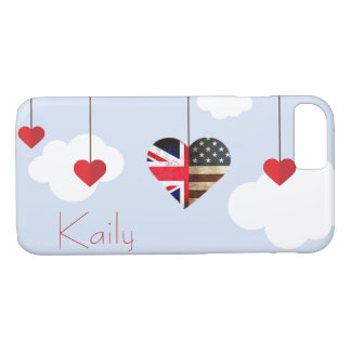 British American Love Hearts royal wedding iPhone 8/7 Case