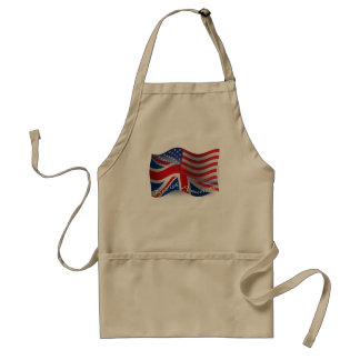 British-American Waving Flag Adult Apron