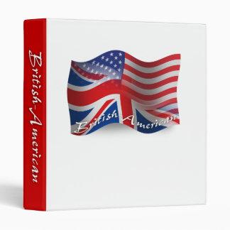 British-American Waving Flag Binder