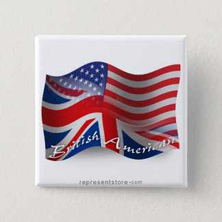 British-American Waving Flag Button