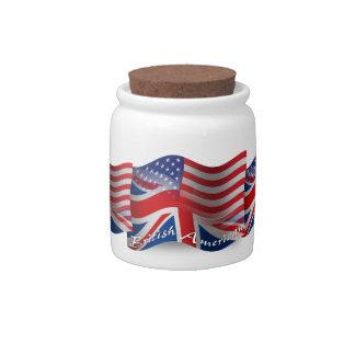 British-American Waving Flag Candy Jars
