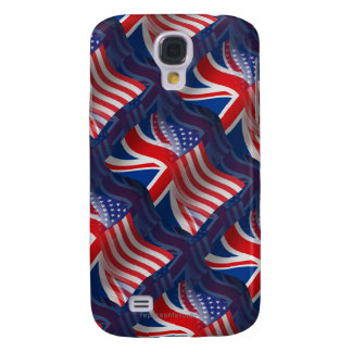 British-American Waving Flag Samsung Galaxy S4 Cover