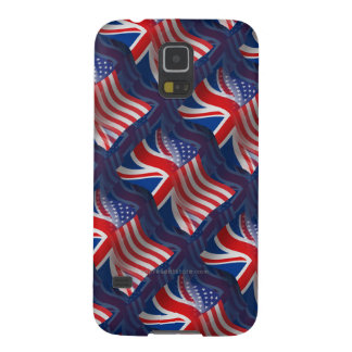 British-American Waving Flag Galaxy S5 Cover