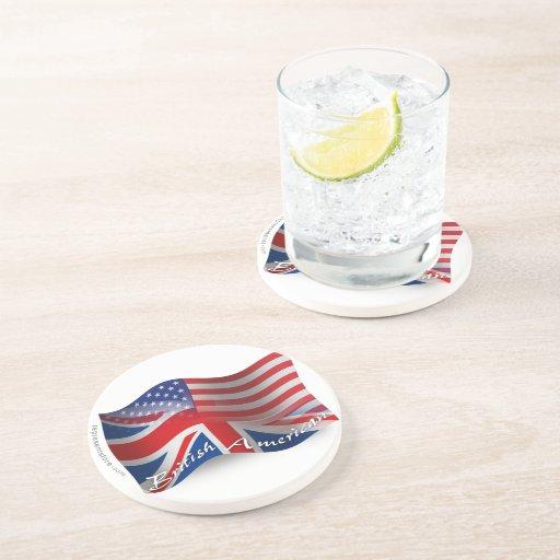 British-American Waving Flag Coasters