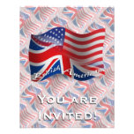 British-American Waving Flag Custom Announcement