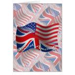 British-American Waving Flag Greeting Card