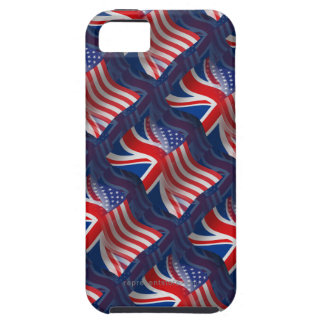 British-American Waving Flag iPhone SE/5/5s Case
