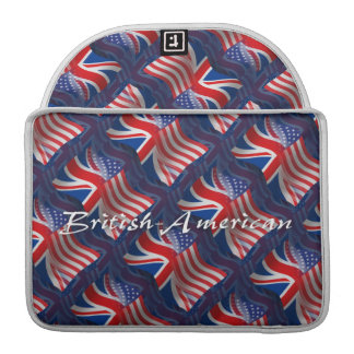 British-American Waving Flag MacBook Pro Sleeve