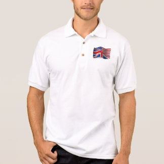 British-American Waving Flag Polo Shirt