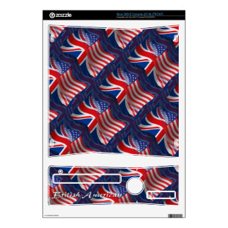 British-American Waving Flag Skin For The Xbox 360 S