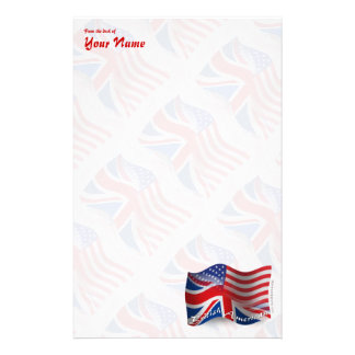 British-American Waving Flag Stationery
