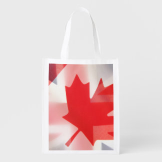 British and Canada flags Market Totes