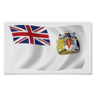 British Antarctic Flag Poster Print