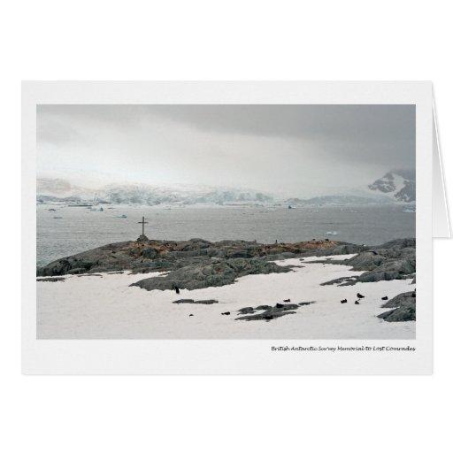British Antarctic Survey Memorial to Lost Comrades Card