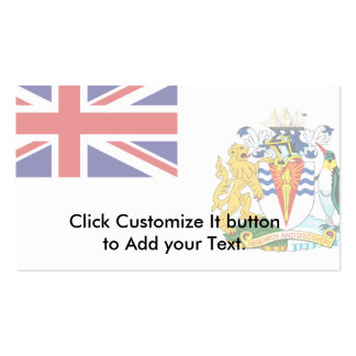 British Antarctic Territory, Antarctica flag Double-Sided Standard Business Cards (Pack Of 100)