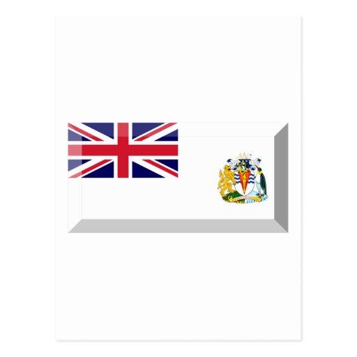 British Antarctic Territory Flag Jewel Postcard