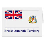 British Antarctic Territory Flag with Name Greeting Cards