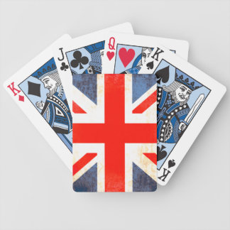 British antiqued flag playing cards