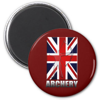 British Archers Archery flag of Great Britain GB 2 Inch Round Magnet