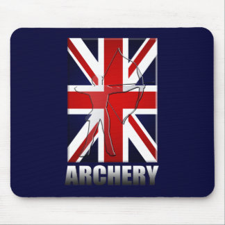 British Archers Archery flag of Great Britain GB Mouse Pad