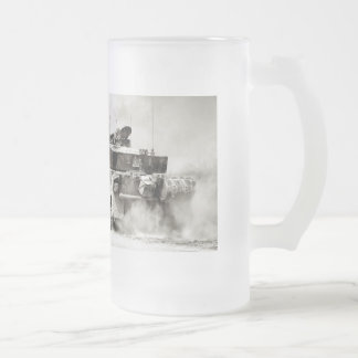 British Army Challenger 2 Main Battle Tank Frosted Glass Beer Mug