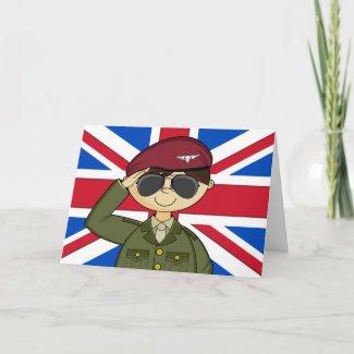 British Army Officer Card card
