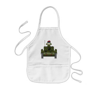 British Army Soldier in Tank Apron