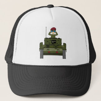 British Army Soldier in Tank Baseball Cap