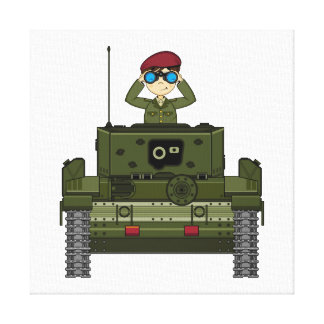 British Army Soldier in Tank Canvas Canvas Print