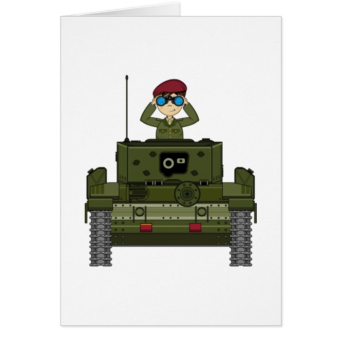 British Army Soldier in Tank Card