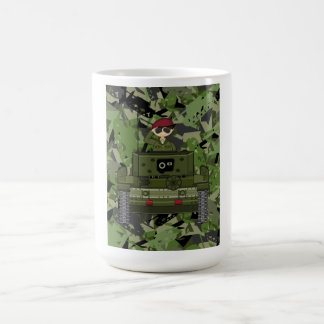 British Army Soldier in Tank Coffee Mug