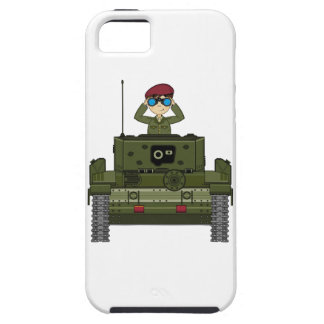 British Army Soldier in Tank iphone Case iPhone 5 Cases