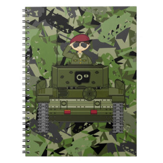 British Army Soldier in Tank Notebook