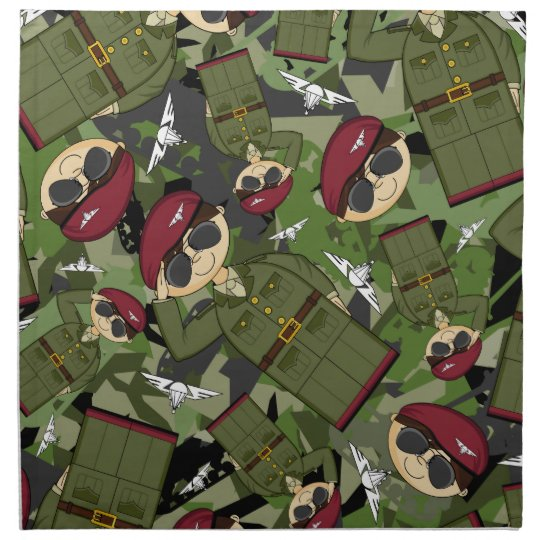British Army Soldier Napkin