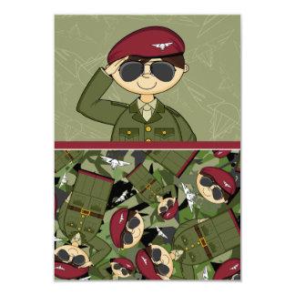 "British Army Soldier RSVP Card 3.5"" X 5"" Invitation Card"